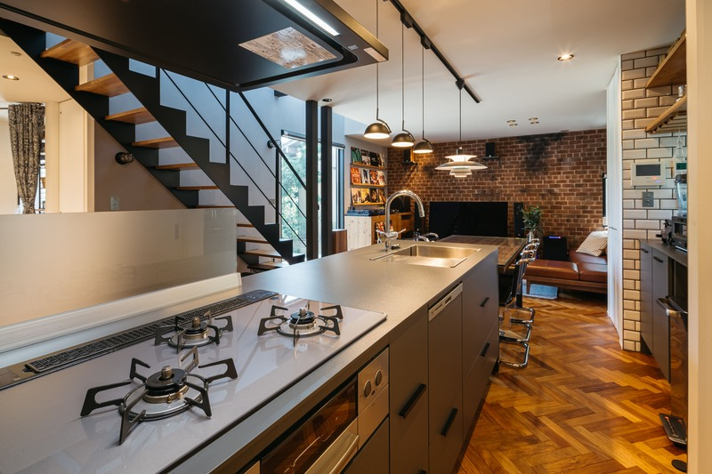 《施工事例》デザイン家具が似合うインダストリアルな家